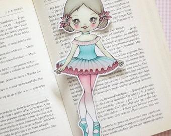 Alina the Ballerina Tutu - bookmark - made to order
