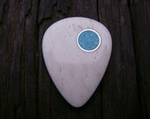 Boutique Bone and Turquoise Guitar Pick