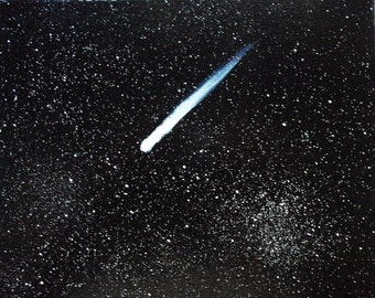 Comet / Space / Universe / Galaxy / Stars/  Oil Painting on Canvas