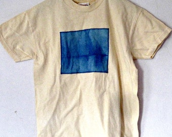 Peach Cotton T-Shirt youth M, tie dyed patch