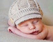 Baby Boy Hat - Boy Newsboy Hat - Baby Boy Photo Prop - Newsboy Hat - Driving Cap- Baby Boy Shower Gift  - by JoJosBootique