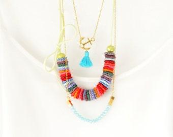 Bohemian Statement Necklace - Bundle of three -  Boho Chic Jewelry