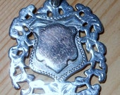 Heavy Weight, Double Sided Sterling Silver Watch Fob c1895