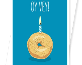 Oy Vey Bagel - Funny Birthday Cards - D165