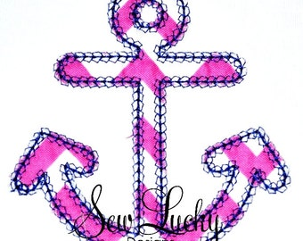 Anchor applique design - machine embroidery design- Many formats - INSTANT DOWNLOAD