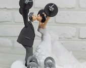 Custom Cake Topper -Weight lifting theme-