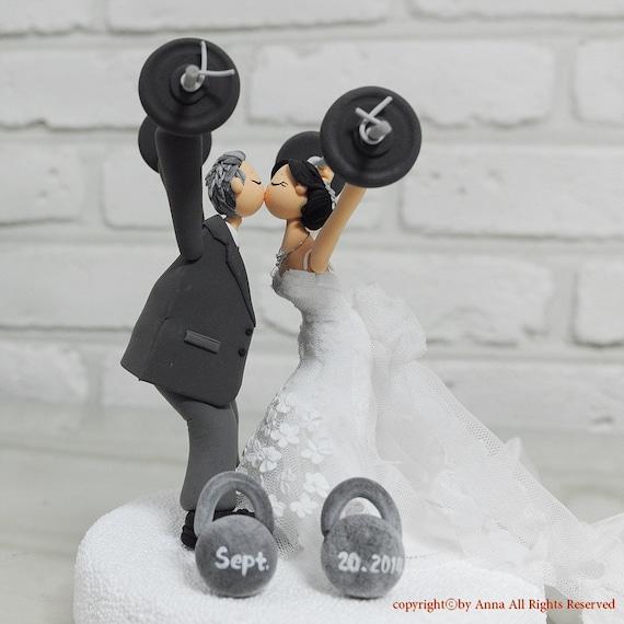 Custom Cake Topper -Weight lifting theme-