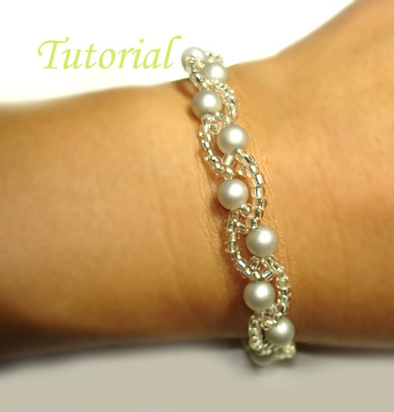 Beading Tutorial - Beaded Barely Wavy Bracelet