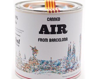 Original Canned Air From Barcelona, gag souvenir, gift, memorabilia