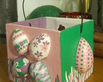 Adorable Wooden Easter Egg Basket