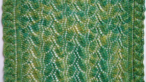 Knit Wrap Pattern: Weeping Willow Lace Shawl Knitting ...