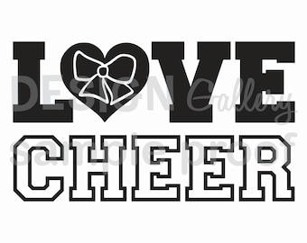 Love Cheer - DIY Instant Download - JPG image & SVG cut - Printable Digital Iron On