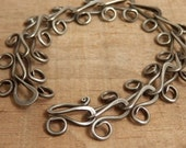 Hand Made Chain Bracelet Forged Steel Jewelry Hand Hammered Link Chain