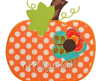 Flower Pumpkin Applique Design