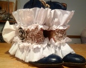 Boot Rug Cuff Mori steam punk  Magnolia Victorian Pearl accessories