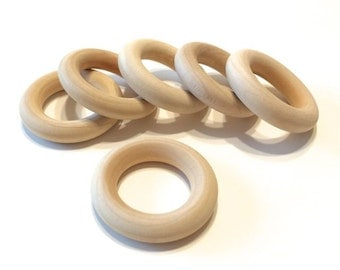 "100 Wooden Toss Rings - 1 3/4"" - Wood Rings"