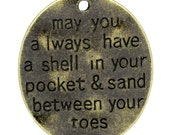 Word Charms Pendants Ocean Charms Quote Charms Pendants Antiqued Bronze