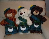 Sewing Pattern Teddy Bear Scottish Kilt and Tam