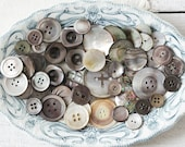 Smoky Mother of Pearl Buttons - Lot of 50 Mixed Shell Buttons
