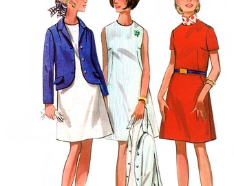 Butterick 4929 Vintage 60s Junior and Misses' Official 4-H Club Uniform Dress and Jacket Sewing Pattern - Uncut - Size 9 - Bust 32