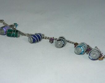 Capacitor Charm Bracelet - Electronic Geek Jewelry