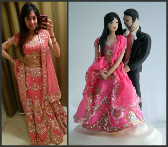 wedding cake indian toppers indian wedding cake topper customized to your features and 22974