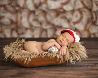 Baseball Cap, Newborn Photo Prop, Sports, Softball, Halloween Costume, Red and White Baseball Hat, Team Hats, Nursery Sports Theme, Homerun