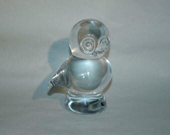 Vintage Swedish Glass Owl Figurine/Paperweight