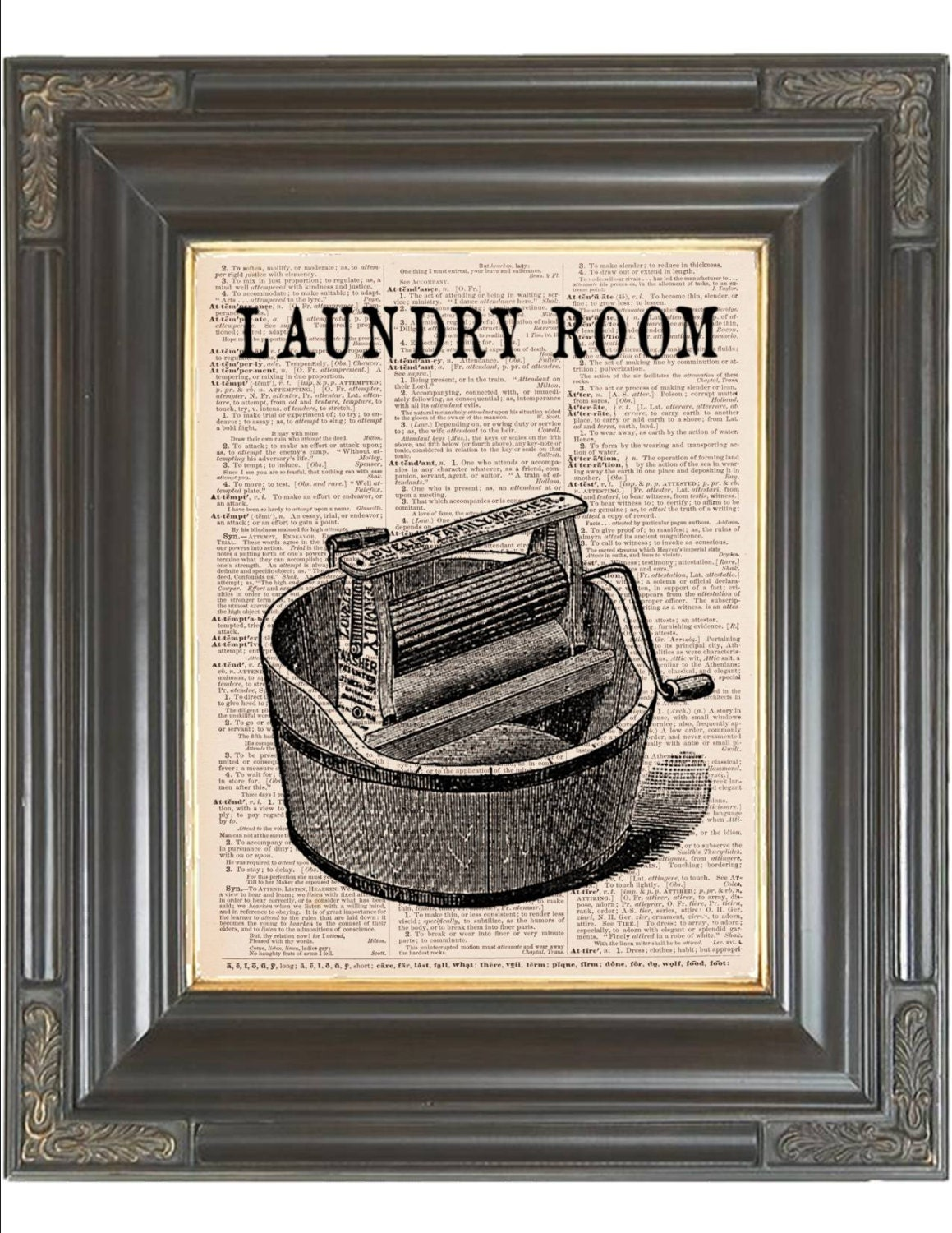 This is an image of Challenger Laundry Room Print