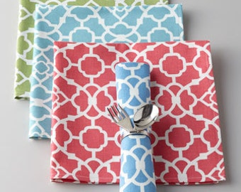 Napkins set of 4 your choice of colors  from my store  coordinate with table runner