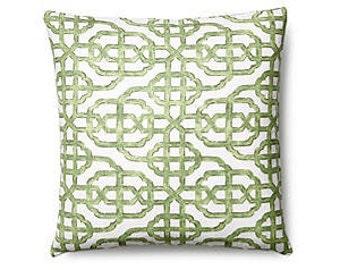 Pillow Cover Cushion  20x20   green geometric