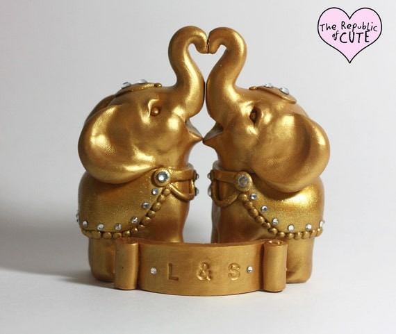 gold elephant wedding cake topper decorated gold indian elephant wedding cake toppers includes 14752