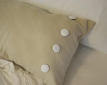 "linen country french lumbar pillow  36"" x 14"""
