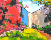 Bougainvillea in Hillcrest-  San Diego Painting