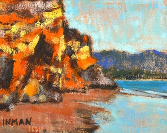 Santa Barbara Beach Painting, California Landscape Painting