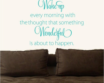 Wake up every morning  Vinyl Lettering wall words quotes graphics decals Art Home decor itswritteninvinyl