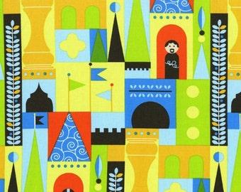 Les Monsieurs Castle Blocks Fabric by Michael Miller, 1 yard