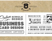 CUSTOM SIngle-Sided BUSINESS CARD Design
