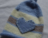 Custom Order For Christine - Baby Boy Top Knot Hat w/ Heart