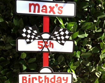Race Car Party Sign