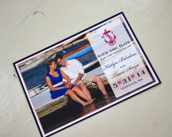 Nautical Anchor + Photo- Save the Date
