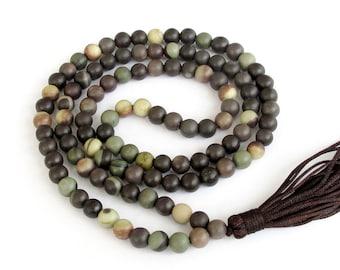 6mm 108 Stone Prayer Beads Tibet Buddhist Meditation Rosary Beaded Japa Mala  ZZ029