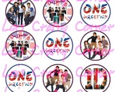 INSTANT DOWNLOAD - 1 Direction  - 1 inch -Digital Collage sheet for Scrapbooking or Bottle Caps
