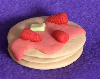 Pancakes with strawberries for American Girl dolls
