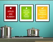 Quote Inspired Fruit Posters - Set of three