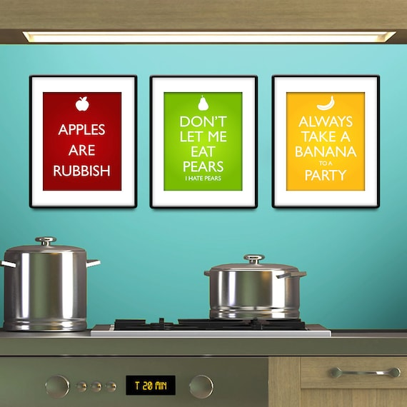 Kitchen Art Nz: Items Similar To Doctor Who Inspired Fruit Posters