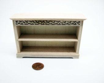 dollhouse  furniture unfinished shelf in 1:12 scale - code VMJ 3009