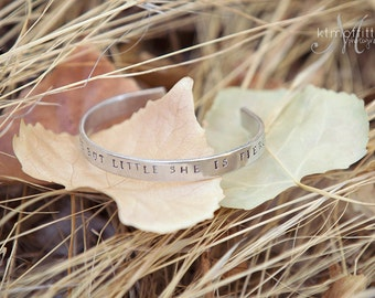 Childs Cuff Bracelet-Handstamped Cuff-Childrens Jewelry-Custom Bracelet