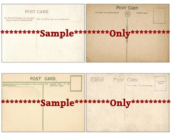 "Vintage Postcard CU Digital Collage Sheet Blank Altered Art Media Collage 3 1/2"" x 5"" USPS Size Vintage Ephemera Scrapbook Instant Download"