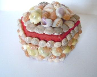 Vintage Shell Art Box Galveston Texas